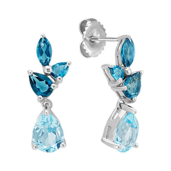 Sky Blue and London Blue Topaz Earrings | Shane C
