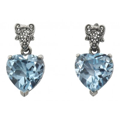 Trufili Wholesale Filigree JewelryBeautiful Heart Shaped Blue .