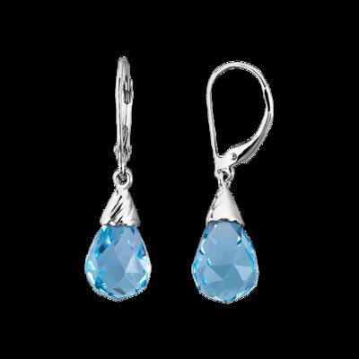 Swiss Blue Topaz Earrin