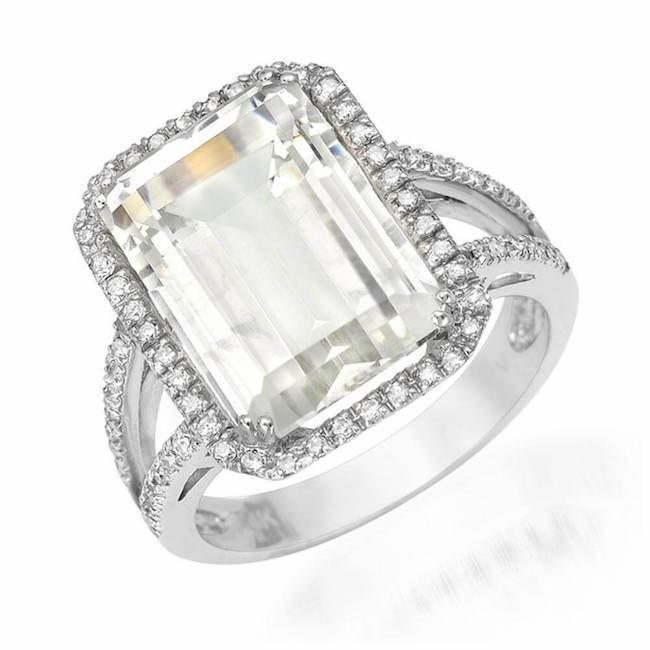 Emerald Cut White Topaz Ring | Shop White Topaz Rings at Liven .
