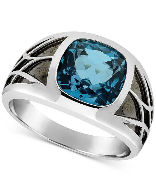 Macy's Men's London Blue Topaz Ring (5-5/8 ct. t.w.) in Sterling .
