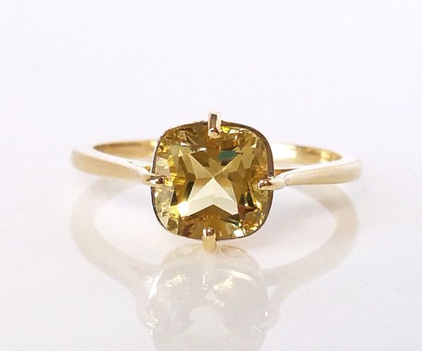 Antique Yellow Topaz Ring | Yellow topaz, Topaz jewel