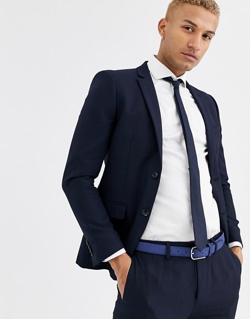 Topman skinny suit jacket in navy | AS
