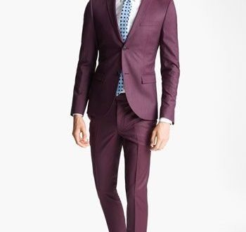 Topman Blazer, Shirt & Skinny Trousers | Purple suits, Well .