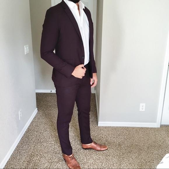 Topman Suits & Blazers | Maroonpurple Suit | Poshma