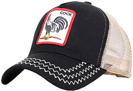 Cock Hats Animal Trucker Hat Snapback Baseball Cap at Amazon Men's .