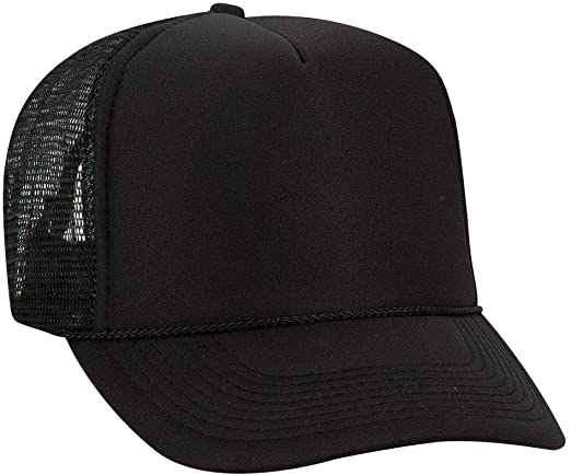Otto Polyester Foam Front 5 Panel High Crown Mesh Back Trucker Hat .