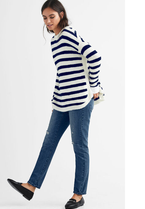 Striped Tunic Sweater by ellos®| Plus Size Tunics | Ell