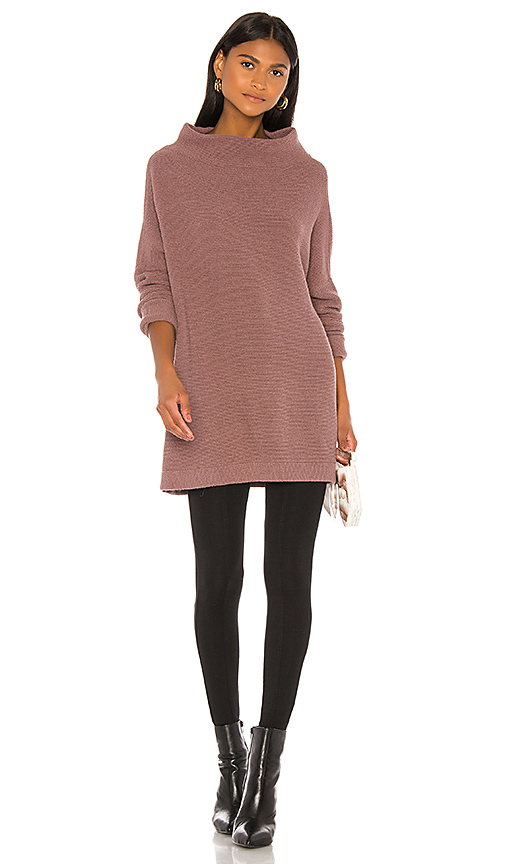 Free People Ottoman Slouchy Tunic Sweater Dress in Taupe | REVOL