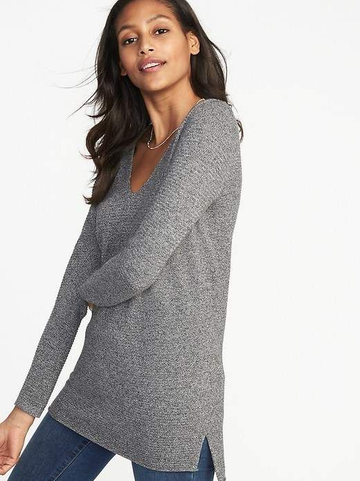 Old Navy Textured V-Neck Tunic Sweater for Women | Long tunic tops .