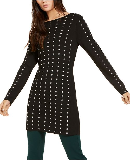 INC International Concepts INC Studded Tunic Sweater, Created for .