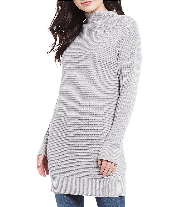 Jessica Simpson Maeve Mock Neck Tunic Sweater | Dillard