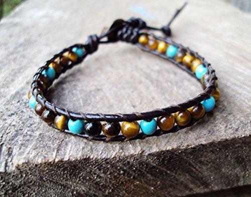 Amazon.com: 4mm tiger eye bracelets,wrap,4mm turquoise bracelets .