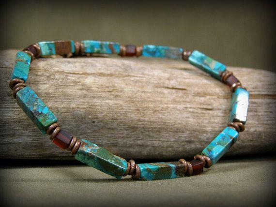 Turquoise Bracelet, Mens Bracelet, Bracelet for Men, Men's .