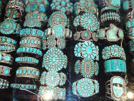 Turquoise bracelets - Picture of Richardsons Trading Company .