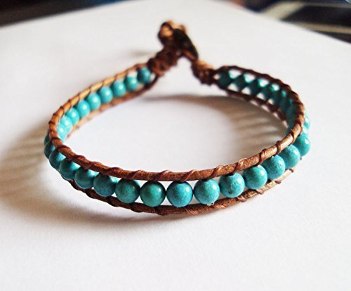 Amazon.com: 4 mm turquoise bracelets,stone bracelets,blue .