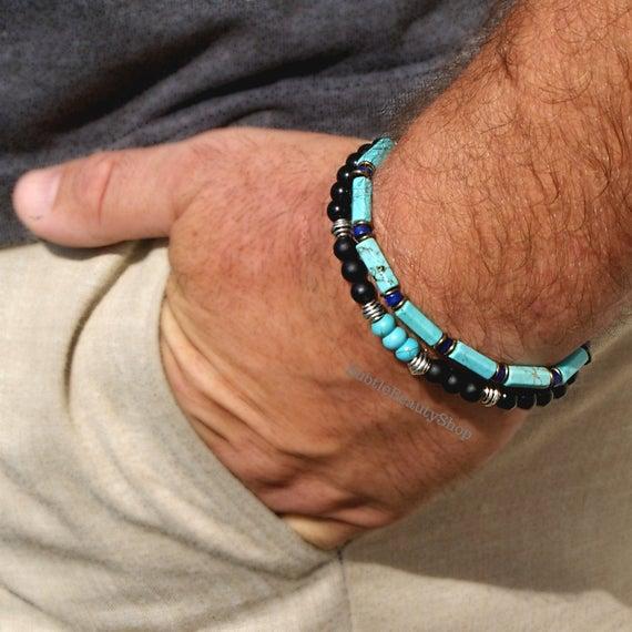 TURQUOISE JEWELRY Bracelets Male Turquoise Jewelry Men's | Et