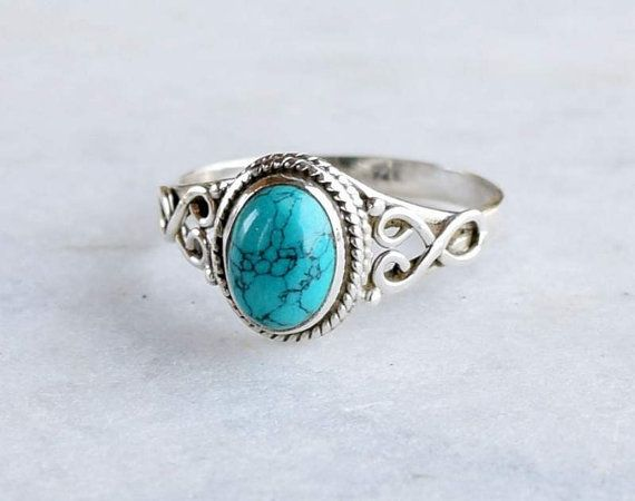 Turquoise ring silver ring stone ring silver by silvershop925 .
