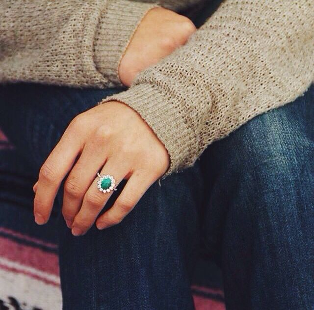 In love with this Turquoise engagement ring.   Turquoise wedding .