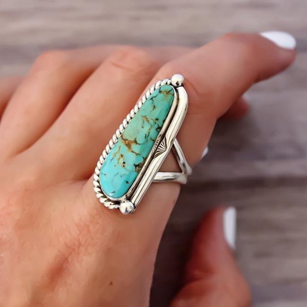 Navajo Half Twist Turquoise Ring - Women's Jewellery- Indie and .