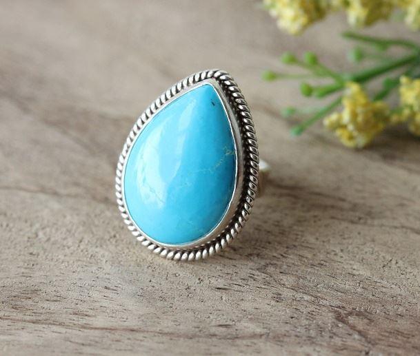 Buy Artisan turquoise rings, Artisan turquoise silver statement .
