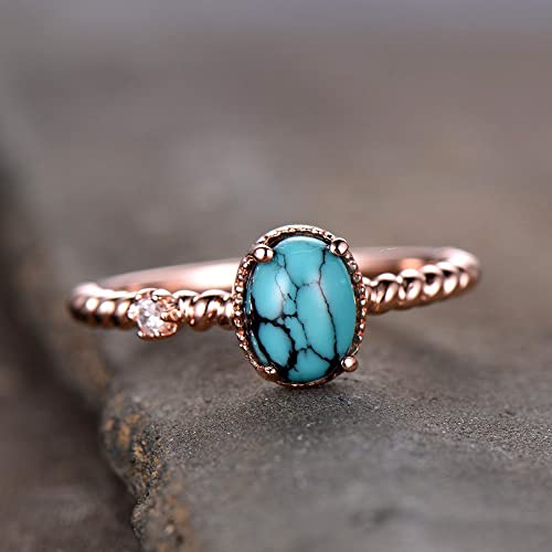 Amazon.com: Turquoise Ring Turquoise Engagement Ring Vintage .