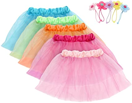 Amazon.com: fedio Girls Princess Tutu Skirts Set 5 Pack Kids .