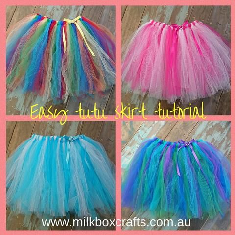 How to make a Tutu Skirt - Easy Tutorial (With images) | Diy tutu .
