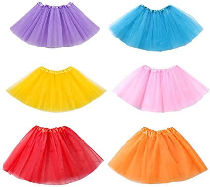 Amazon.com: Koogel 6 PCS Multicolor Tutu Skirts,3-Layer Ballet .