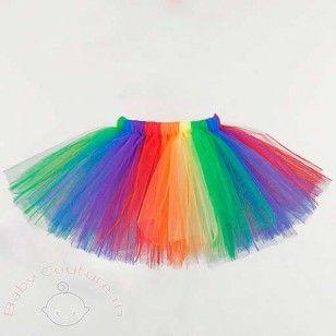 Rainbow Funky Tulle #Tutu #Skirt | Tutú de arcoíris, Tutú para .