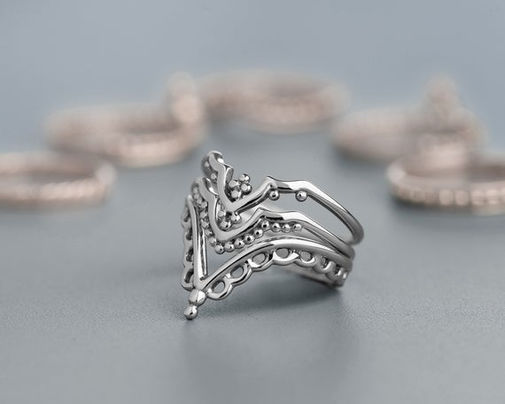 Women's Ring Set Silver Rings for Women Unique Rings for | Et