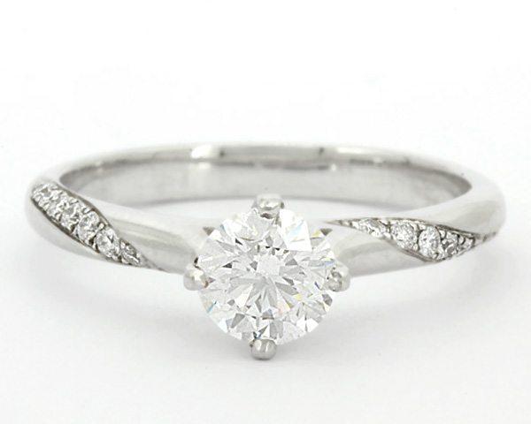 0.46 Carat Unusual Melee Set Diamond Engagement Ring SD001 Ireland .