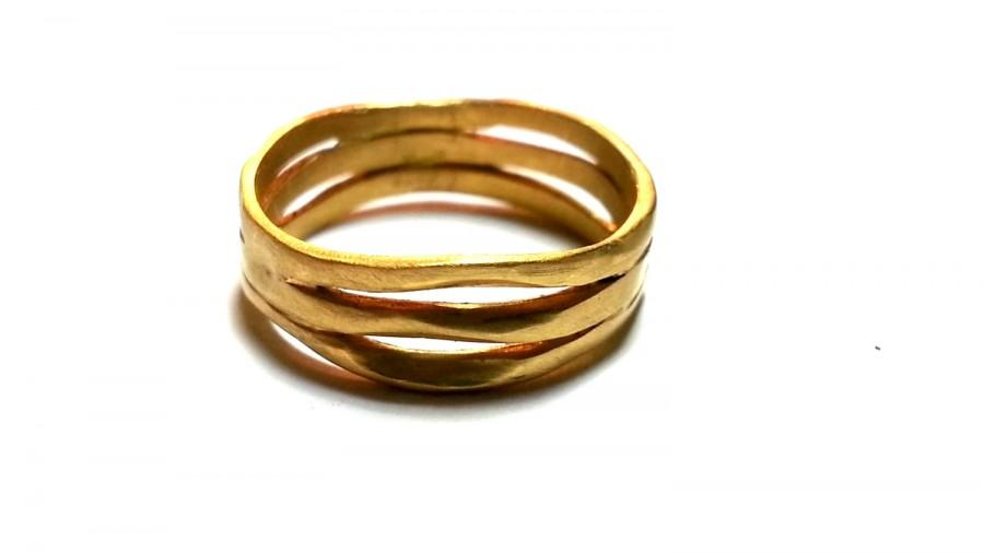 Unusual Wedding Band Solid Gold Rings Unisex Wedding Bands His And .