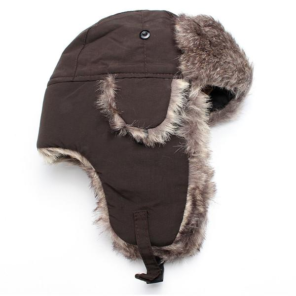 Winter Warm Ushanka Hat Bomber Earflap Men Women Thicken Balaclava C