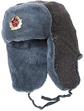Amazon.com : Ushanka-Hat Russian Army Ushanka Authentic Winter Hat .
