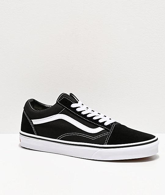 Vans Old Skool Black & White Skate Shoes | Zumi
