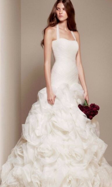 Fit and Flare Halter, Ivory, Vera Wang White Wedding Dress Brand .