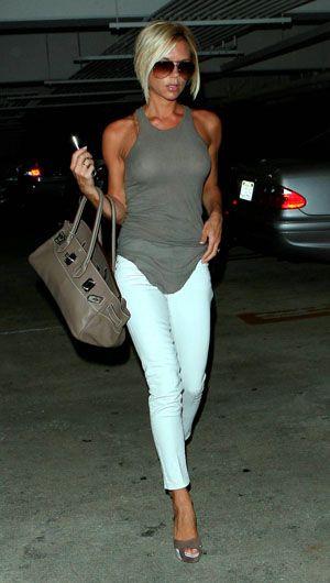 white DVB jeans by Victoria Beckham | Victoria beckham style .