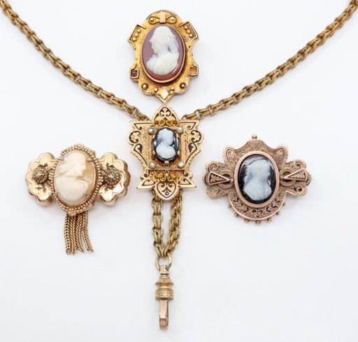 4 pcs of Victorian Jewelry - Oct 25, 2019 | Schmidt's Antiques Inc .