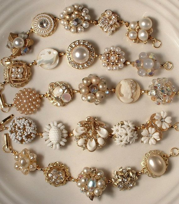 Vintage Costume Jewelry: Upcycled & Repurposed | Jewelry crafts .