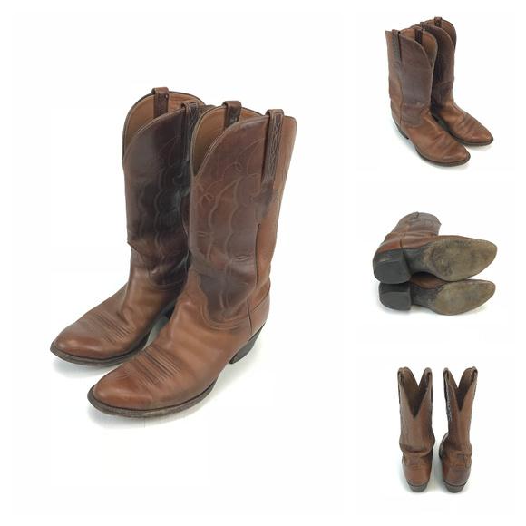 Lucchese Shoes | L002064 Vintage Cowboy Boots Mens 9 D | Poshma