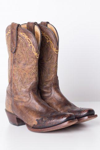 Detailed Tony Lama Vintage Cowboy Boots (7.5B) - Ragsto
