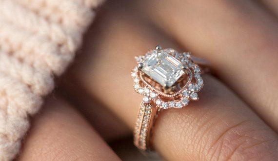 Vintage Halo Diamond Engagement Ring | Shane C