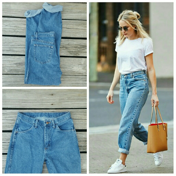 Vintage Jeans | Rustler High Waisted Denim Boyfriend | Poshma