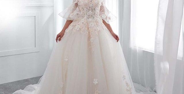 Luxurious Vintage Wedding Dress For Brides Lace Appliques White .