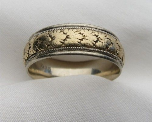vintage-art-deco-men's-wedding-band | Mens wedding bands vintage .