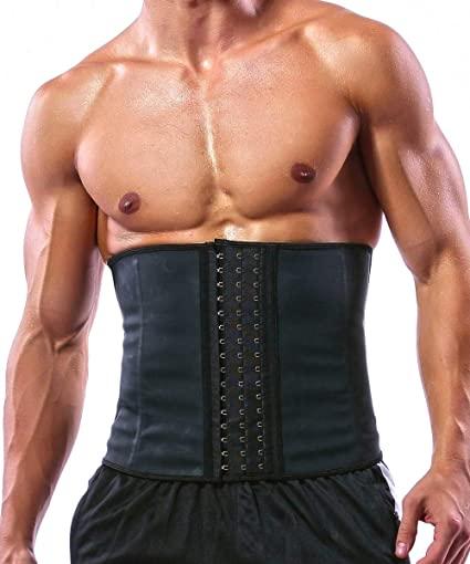 Amazon.com : GainKee 100% Latex Men Waist Trainer Corsets with .