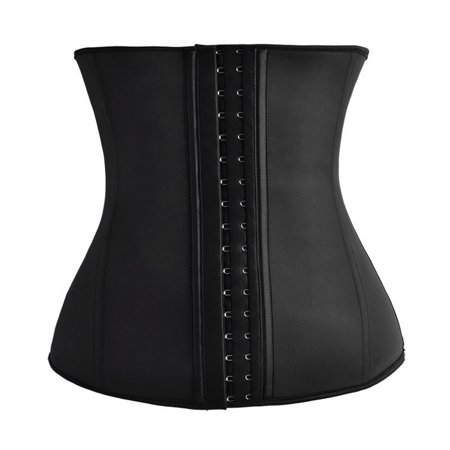 Rolling Waisted - Women's Latex Rubber Waist Trainer Corset Body .