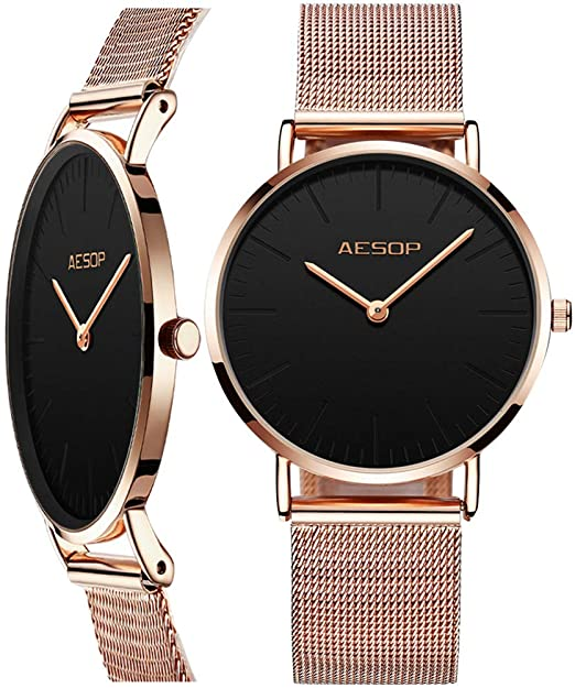 Amazon.com: AESOP Women's Watches Rose Gold,Thin Watches for Women .