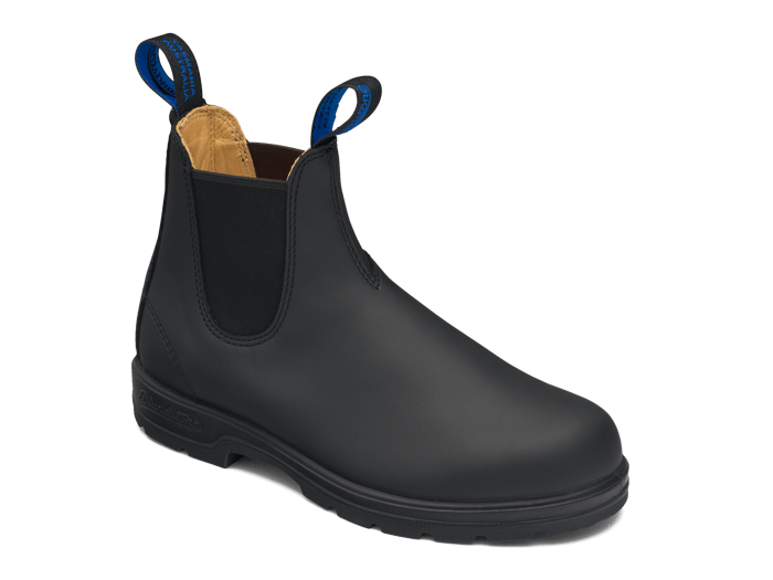 Black Premium Waterproof Leather Chelsea Boots, Women's Style 566 .